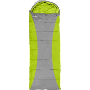 Brunner Camper Outdoor Saco de dormir rectangular, gris/verde gris/verde