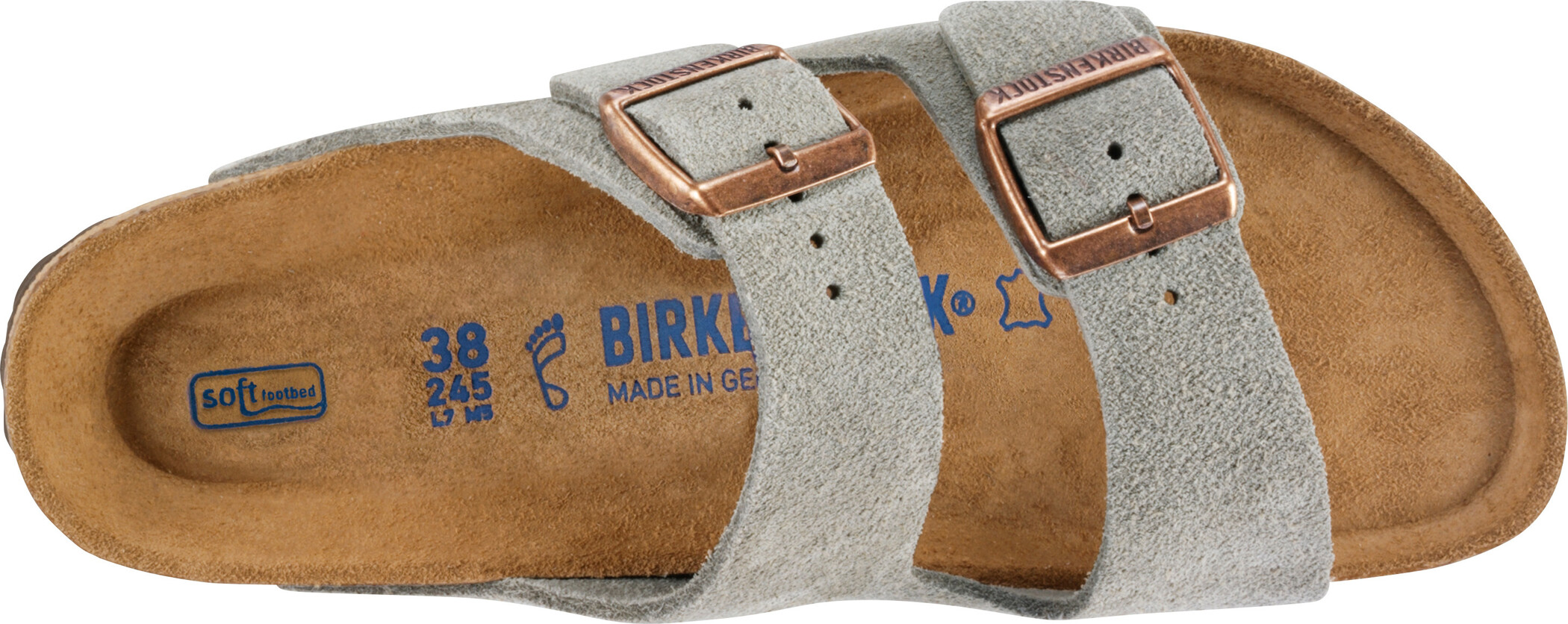Birkenstock Arizona SFB Sandals Suede Leather Narrow taupe