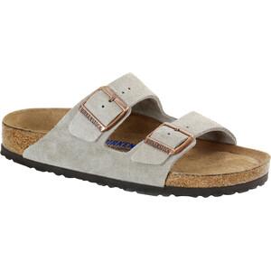 Birkenstock Arizona SFB Sandals Suede Leather Narrow taupe taupe