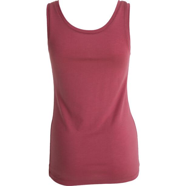 Tufte Wear Light Wool Tank Top Damen roan rouge