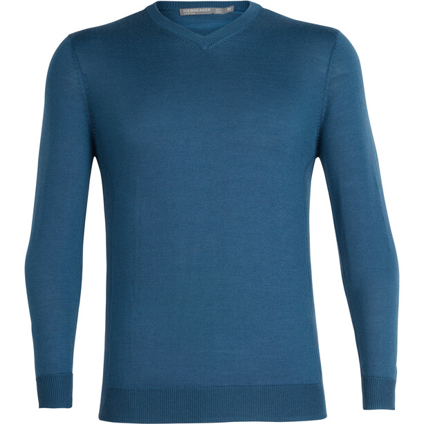 Icebreaker Quailburn V Sweater Herre Blå