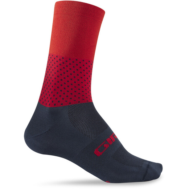 Giro Comp High Rise Chaussettes, bleu/rouge