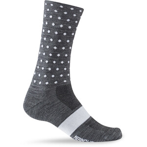 Giro Seasonal Merinowolle Socken charcoal/white dots charcoal/white dots