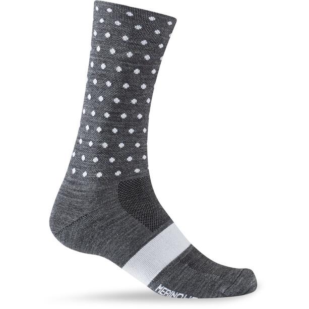 Giro Seasonal Merino Wool Socks charcoal/white dots