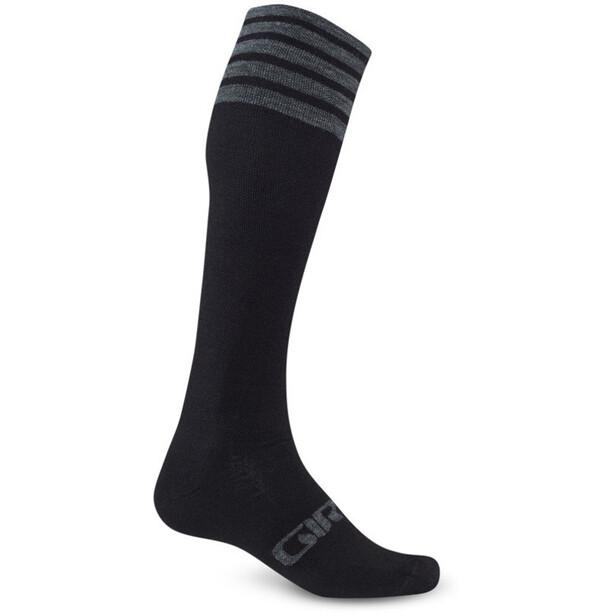 Giro Hightower Socken Merino Wool black/gray stripe