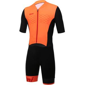 Santini Redux Trisuit SS Men arancio fluo arancio fluo