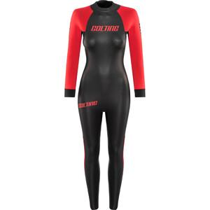 Colting Wetsuits Open Sea Wetsuit Damen schwarz/rot schwarz/rot