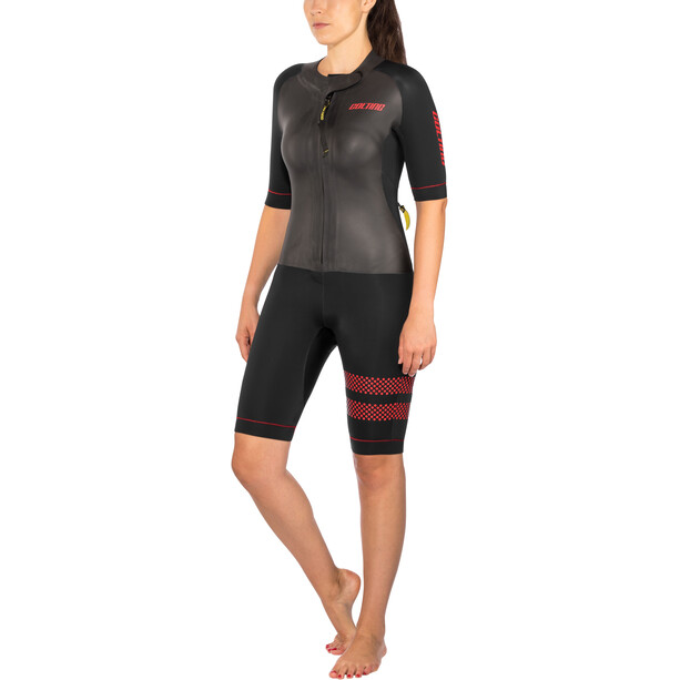 Colting Wetsuits Swimrun Go Wetsuit Damen black/red