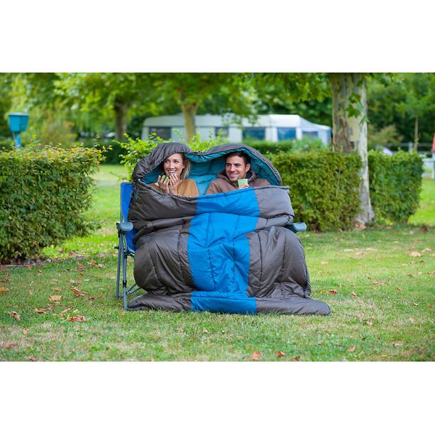 Coleman XXL Hudson Schlafsack für 2 Personen 235x150x5cm kastanie-blau
