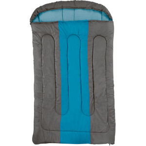 Coleman XXL Hudson Schlafsack für 2 Personen 235x150x5cm kastanie-blau kastanie-blau