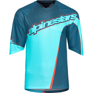 Alpinestars Crest 3/4 Trikot Herren poseidon blue/atoll blue poseidon blue/atoll blue