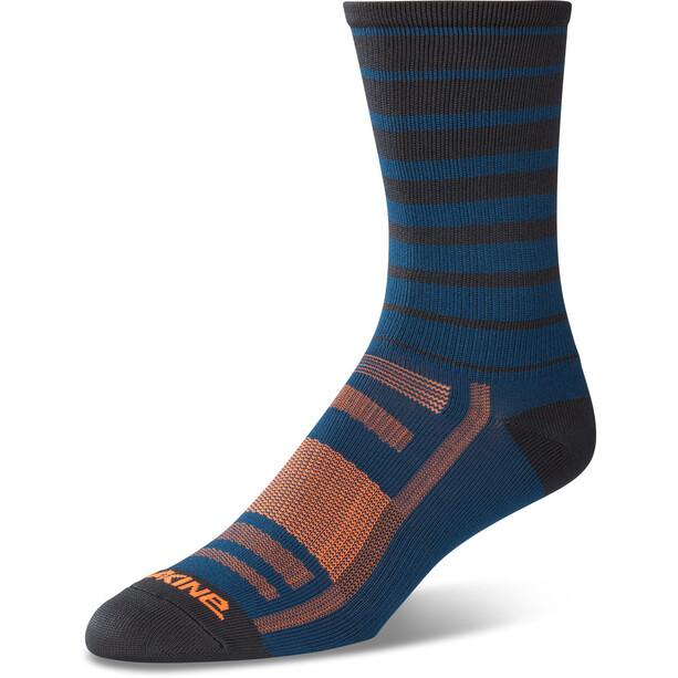 Dakine Singletrack Socken Herren slate blue stripe
