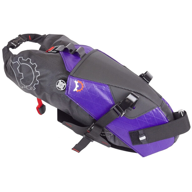 Revelate Designs Terrapin Satteltasche 8l inkl. Wasserdichtem Packsack crush purple