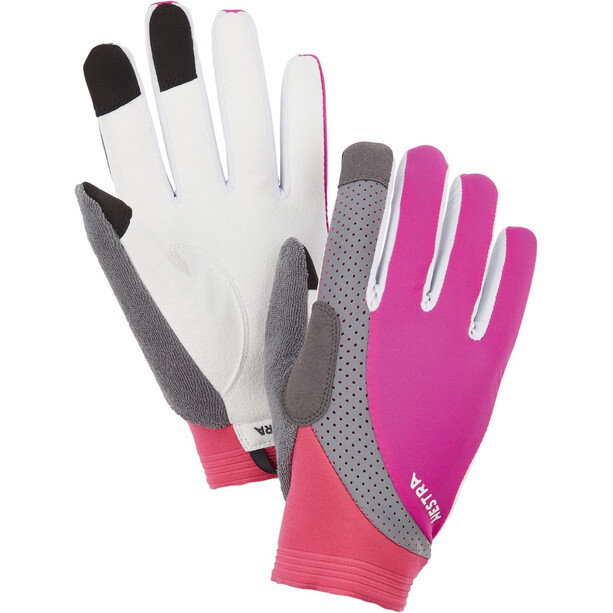 Hestra Apex Reflective Long Finger Gloves fuchsia