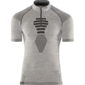 X-Bionic Apani Merino Zip Kurzarmshirt Herren black/grey/black black/grey/black