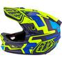 Troy Lee Designs D3 Fiberlite Speedcode Helm yellow/blue