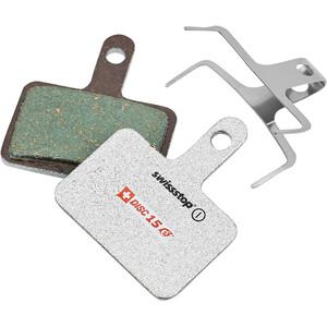 SwissStop Disc 15e Bremseklodser til Shimano/TRP/Tektro/Quad E-Bike, sølv/petroleumsgrøn sølv/petroleumsgrøn