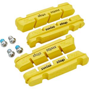 SwissStop FlashPro Patins de frein pour Shimano/SRAM Carbone, jaune jaune