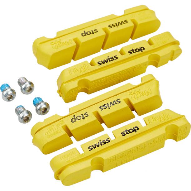 SwissStop FlashPro Brake Pads for Shimano/SRAM Carbon yellow