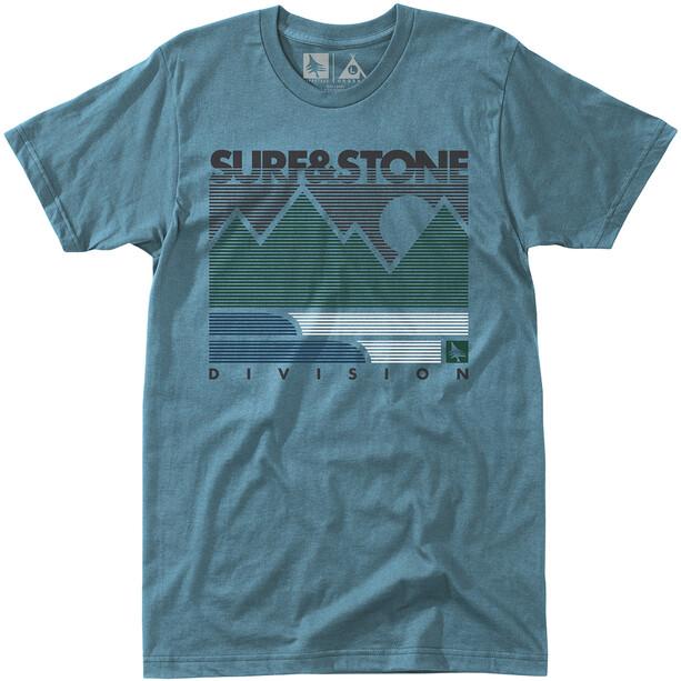 Hippy Tree Linework T-Shirt Herren blue