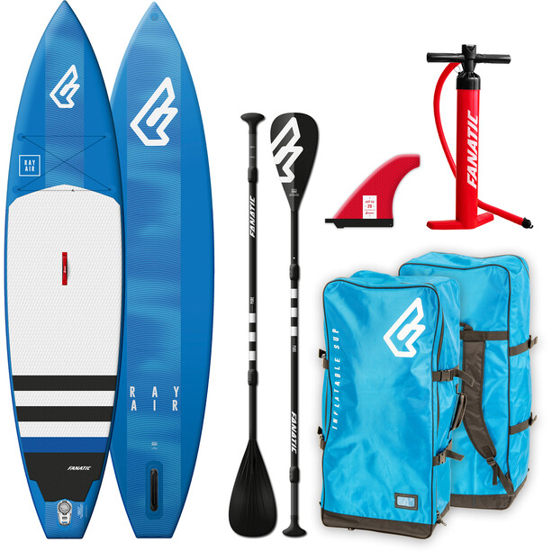 """Fanatic Ray Air Package 12'6"""" Inflatable Sup with Paddles and Pump none"""