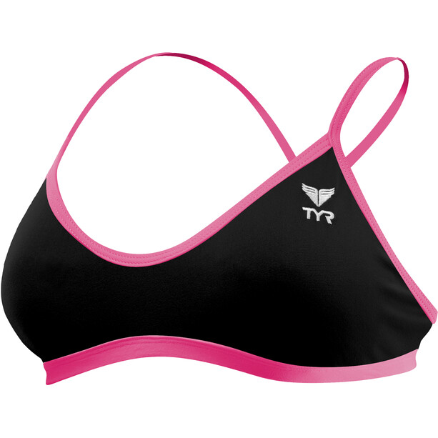 TYR Solid Trinity Top Damen black/pink