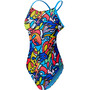 TYR Astratto Cutoutfit Swimsuit Dam blue/multi