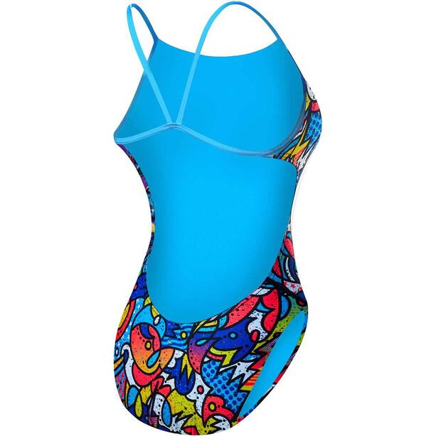 TYR Astratto Cutoutfit Badeanzug Damen blue/multi