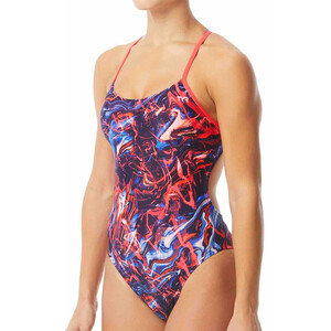 TYR Penello Cutoutfit Badeanzug Damen red/white/blue red/white/blue