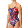 TYR Penello Cutoutfit Badeanzug Damen red/white/blue