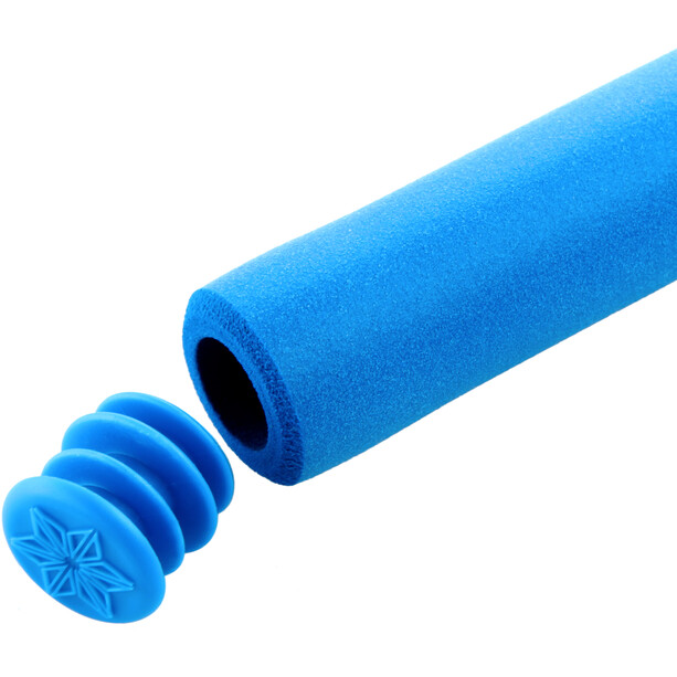 Supacaz Siliconez MTB Griffe neon blau