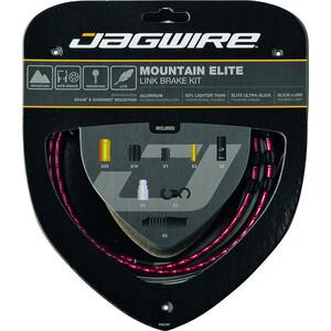 Jagwire Mountain Elite Link Brake Cable Kit レッド