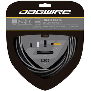 Jagwire Road Elite Sealed Brake Cable Kit ステルス ブラック