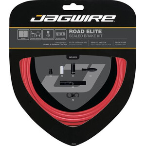 Jagwire Road Elite Sealed Brake Cable Kit レッド