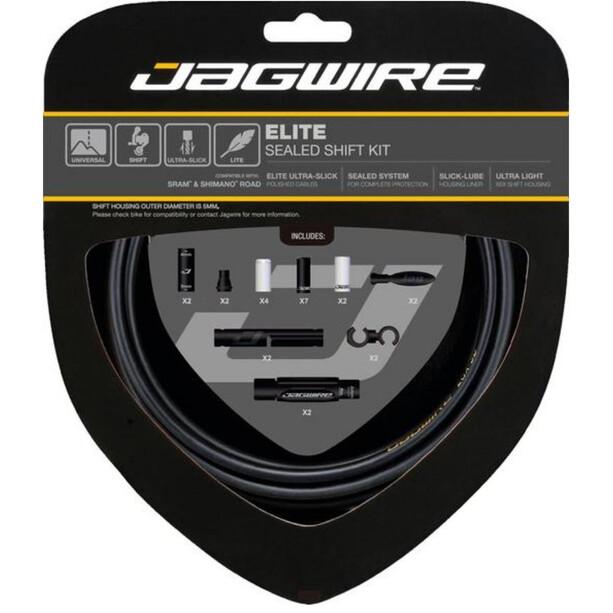 Jagwire Elite Sealed Schaltzugset stealth black
