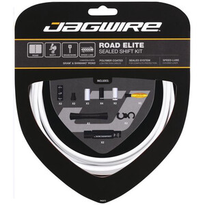 Jagwire Elite Sealed Gearkabelsæt, hvid hvid