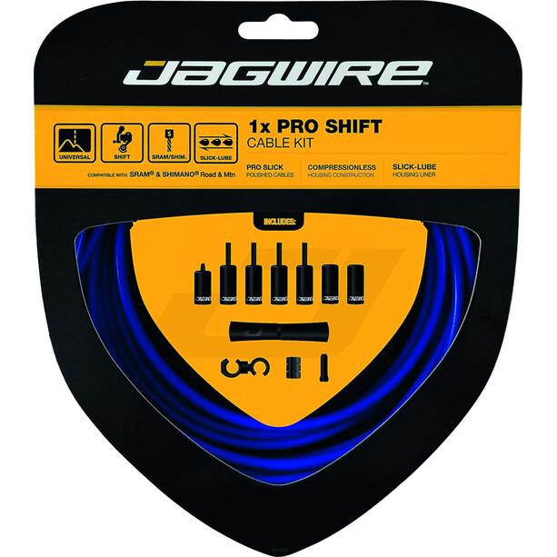 Jagwire 1X Pro Shift Schaltzugset blau