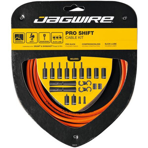 Jagwire 2X Pro Shift Skiftkabelsett Orange Orange