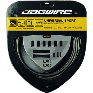 Jagwire Sport Kit Câbles de frein universels pour Shimano/SRAM, argent/gris argent/gris