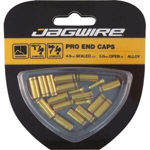 Jagwire ユニバーサル Pro End Caps 10x4mm セットゴールド