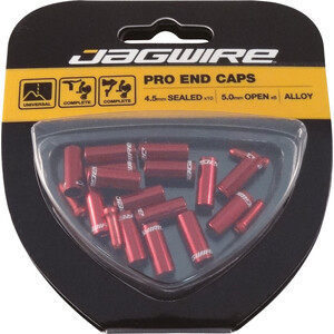 Jagwire Universal Pro End Caps 10x4 5mm Set レッド