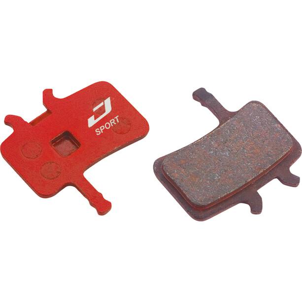 Jagwire Sport Semi-Metallic Scheibenbremsbeläge für Avid BB7/Alle Juicy Modelle 1 Paar rot