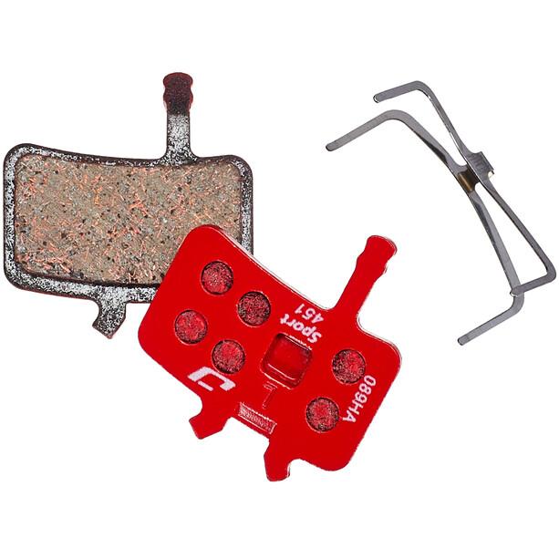 Jagwire Sport Semi-Metallic Skivebremsebelægninger til Avid BB7 / All Juicy Models 1 Par, rød