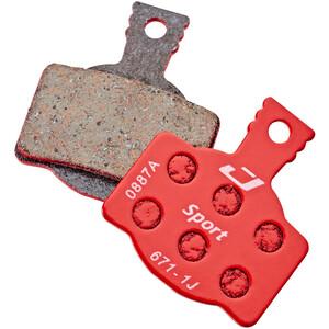 Jagwire Sport Semi Metallic Disc Brake Pads for Magura MT8/MT6/MT4/MT2/MT Trail リア 1 Pair レッド