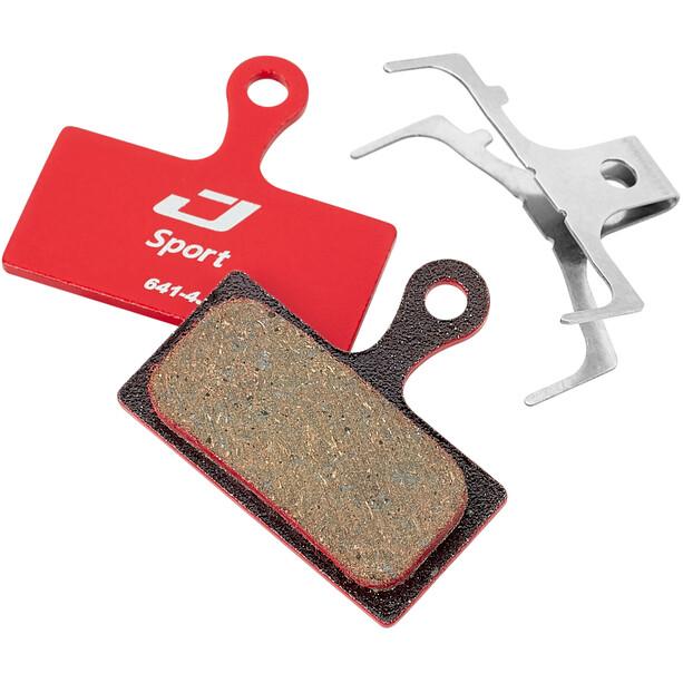 Jagwire Sport Semi-Metallic Bremsbeläge für Shimano/Rever Postmount rot