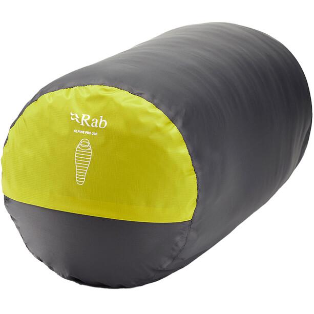 Rab Alpine Pro 200 Schlafsack XL Herren gelb
