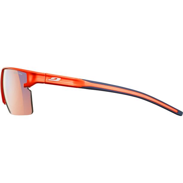 Julbo Outline Zebra Light Sonnenbrille Herren fluo orange/blue
