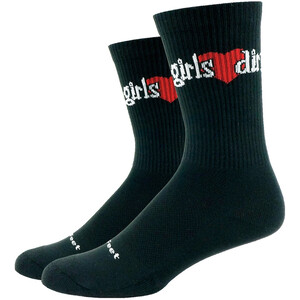 DeFeet Levitator Trail Socken Damen girls love dirt (schwarz) girls love dirt (schwarz)