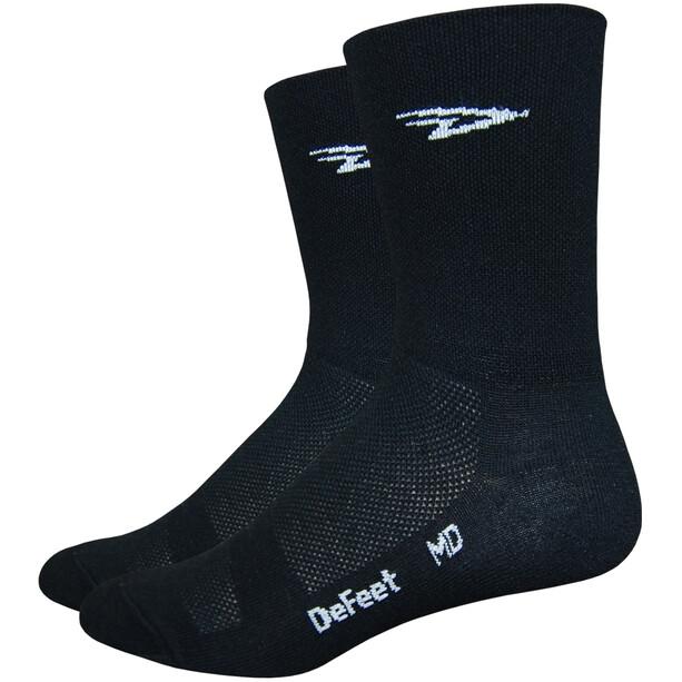 "DeFeet Aireator 5"" Double Cuff Socken d-logo (schwarz)"
