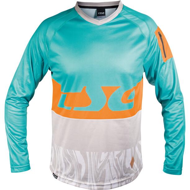 TSG Breeze Langarm Trikot Herren turquoise-acid orange
